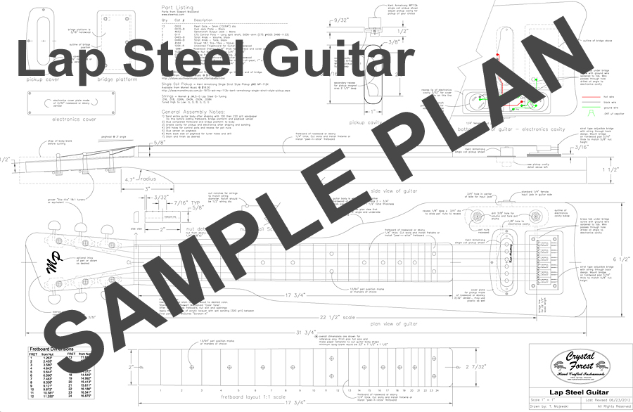 lap steel guitar plans